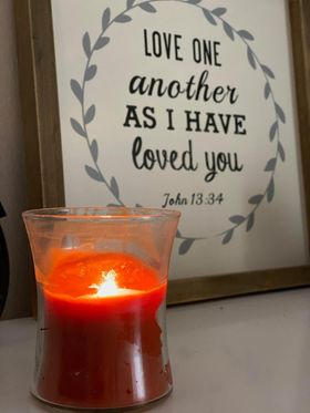 love one another as I have loved you candle